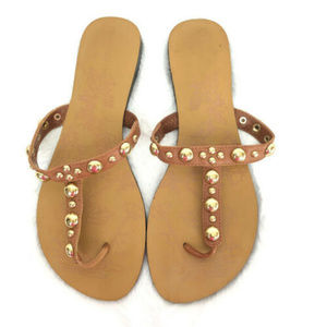Franco Fortini Womens Leather Thong Sandals 7M